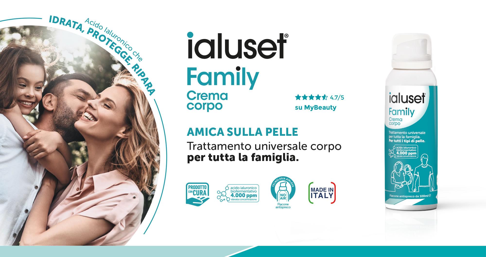 ialuset Family - Amica sulla pelle - Trattamento universale corpo per tutta la famiglia
