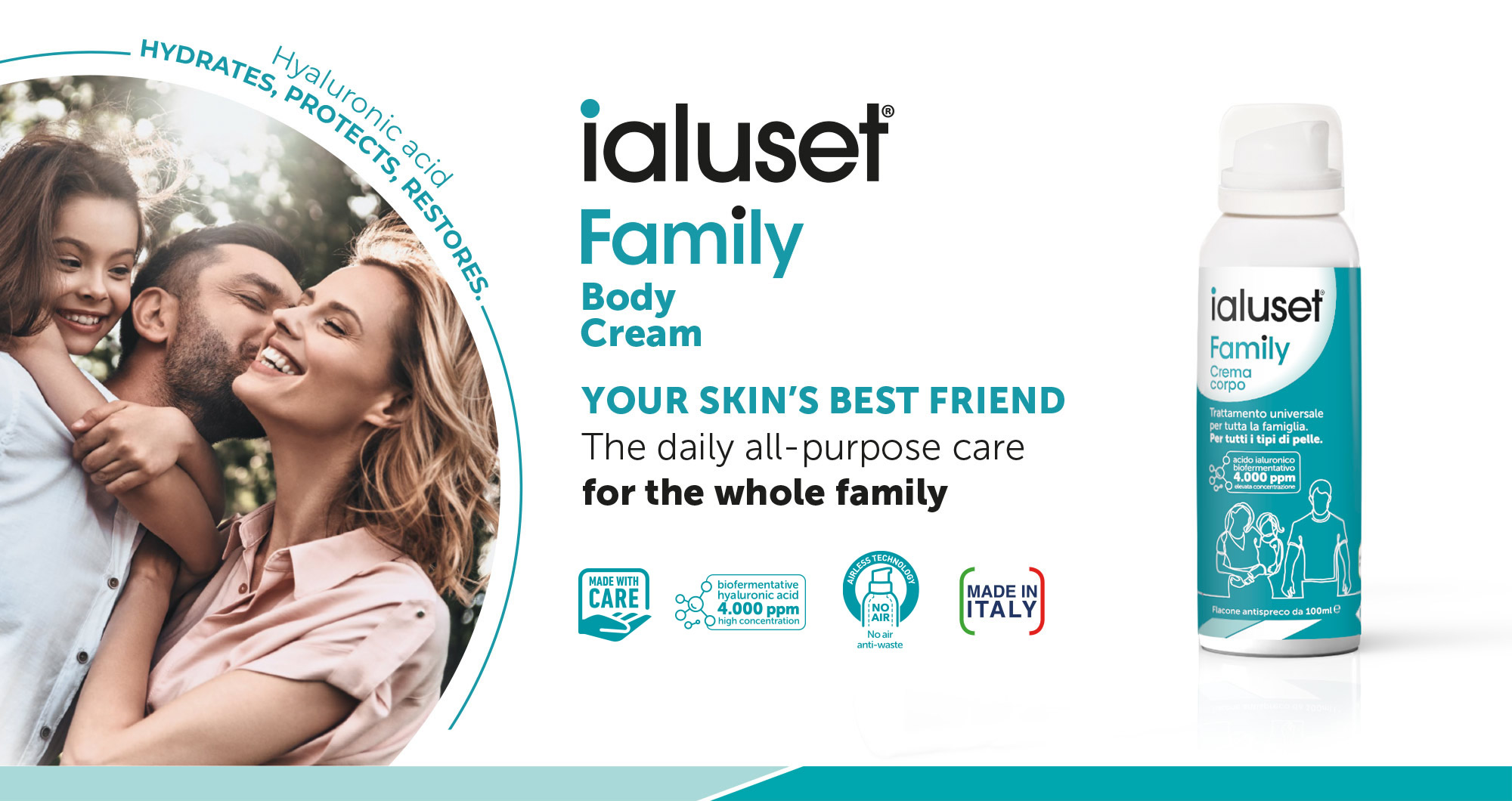 ialuset Family - Your skin's best friend - All-purpose moisturizing treatment for the entire family